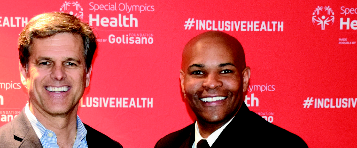 Timothy Shriver and Surgeon General Jerome-Adams, Inclusive Health Summit