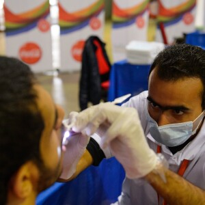 Healthy Athletes Dental Exam at the SENA Games in Cairo, Egypt, 2014