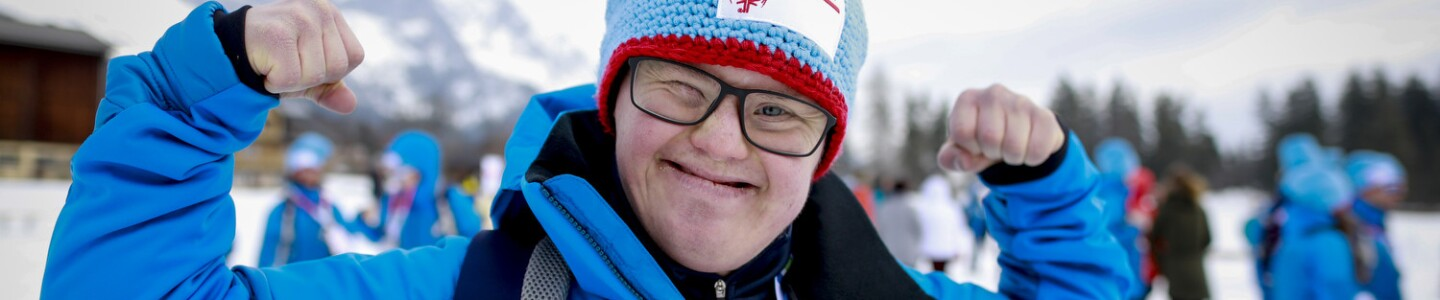 Norway Athlete Dag S. Ryen Smiles on the Mountain in Schladming, Austria at the 2017 World Games