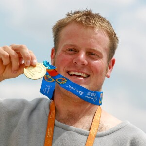 Sam Donaldson of New Zealand with the First Medal of the Summer Games for 800m Freestyle Swimming in Athens, Greece, June 2011