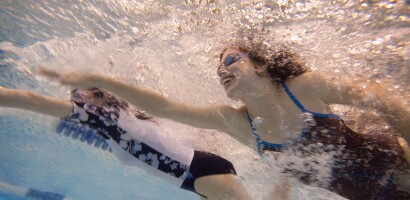 Two Women on the Special Olympics Virginia Swim Team Make a Joyful Splash in the Pool, Training in 2011