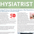 "Cover of Special Olympics Article in ""The Physiatrist"", AAPM&R Newsletter, Vol. 34, September 2018"