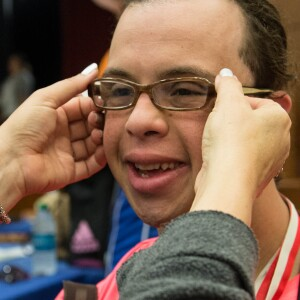 Opening Eyes Exam, Mohamed Gaballa of Egypt Gets New Glasses