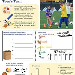 American Academy of Pediatrics, Ohio Department of Health - Caregiver Corner Handout, Healthy Habits, Ages 11-13