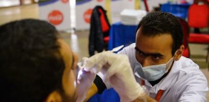 Healthy Athletes Dental Exam at the SENA Games in Cairo, Egypt, 2014
