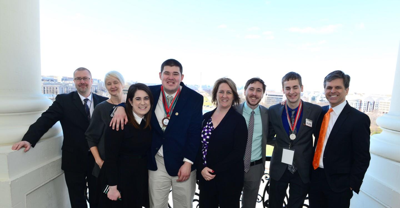 Wisconsin Delegation on House Speaker Paul Ryan's Balcony, U.S. Capitol, Washington, D.C.