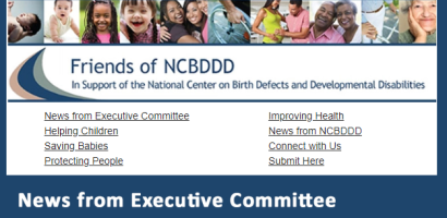 "Cover of ""Friends of NCBDDD"" Newsletter, October 2018"