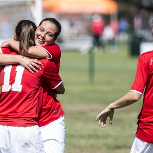 Women on Hungary's Soccer/Football Team Celebrate During the Unified Sports Experience at the Special Olympics World Games, Los Angeles, 2015